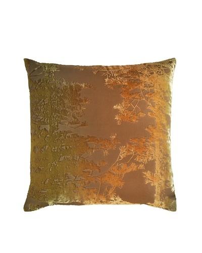 Kevin O'Brien Studio Hand-Painted Devore Velvet Pine Tree Pillow
