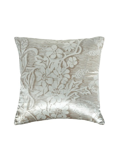 Kevin O'Brien Studio Hand-Printed Woodcut Blossom Pillow