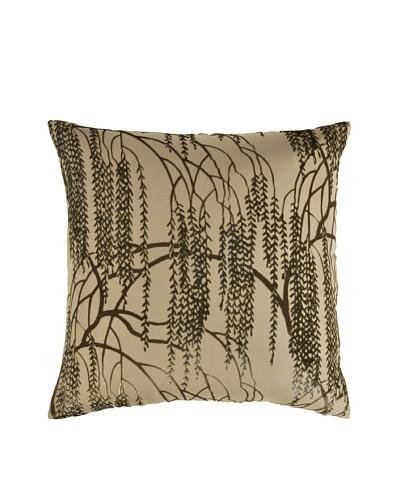 Kevin O'Brien Studio Hand-Painted Devore Velvet Willow Pillow