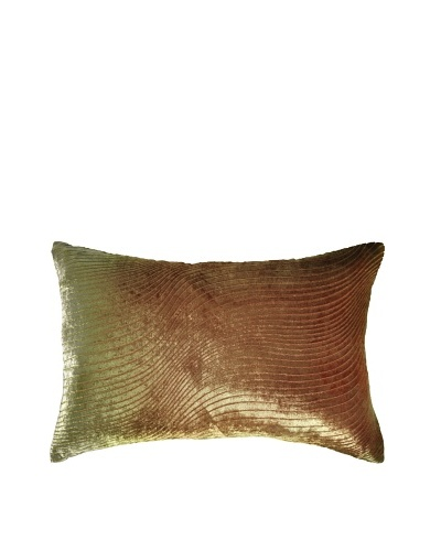 Kevin O'Brien Studio Hand-Painted Devore Velvet Slinky Pillow