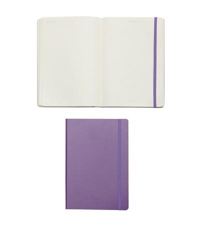 Kikkerland Set of 2 Leuchtturm Large Book Lined, Lavender