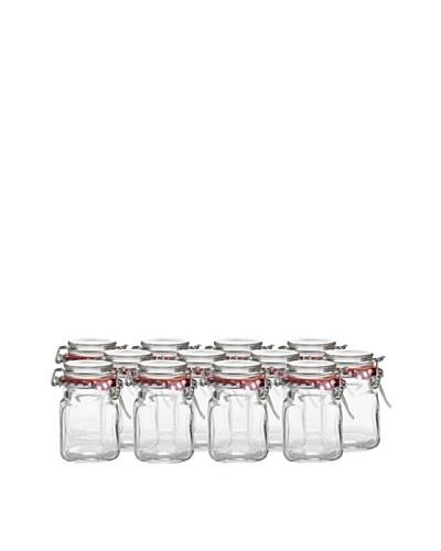 Kilner Set of 12 Square 70ml/2-fl oz. Spice Jars