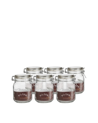 Kilner Set of 6 Clip Top Square Jars