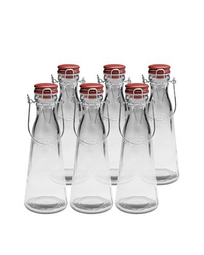 Kilner Set of 6 Vintage Clip Top .5 Liter Bottles