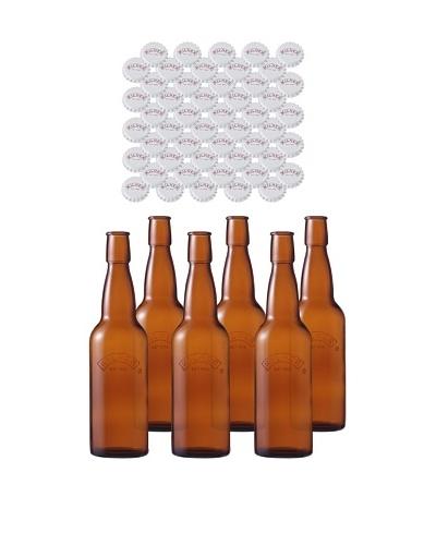 Kilner Set of 6 Home Brew .75L/25 fl oz. Bottles with Crown Caps
