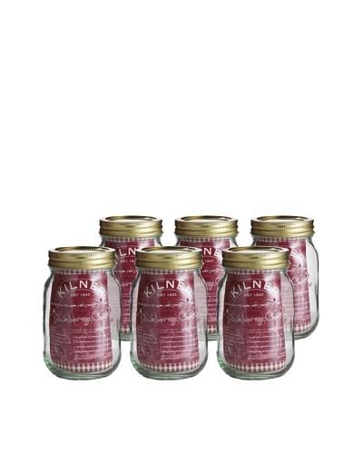 Kilner Set of 6 Screw Top Preserve Jars