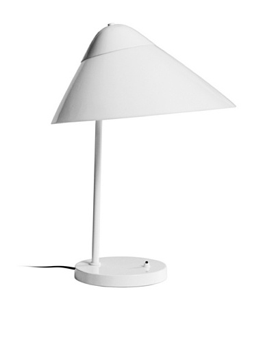Kirch & Co. Brondby Table Lamp, Silver/White