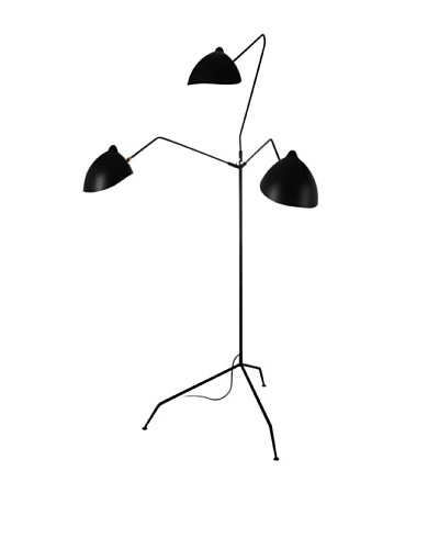 Kirch & Co. Holstebro Floor Lamp, Silver/Black