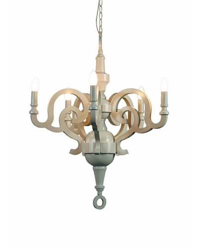 Kirch & Co. Paper Chandelier, White