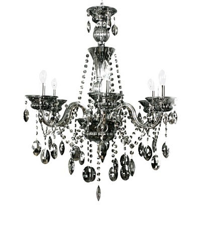 Control Brand Octopussy Remote-Control Chandelier, Silver