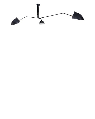 Control Brand Holstebro Ceiling-Mount Light Fixture, Silver/Black