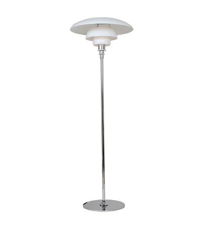 Kirch Lighting Herlev Floor Lamp, Silver/White