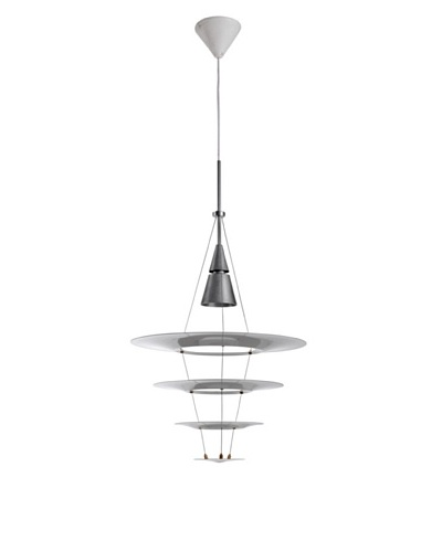 Kirch Lighting Tastrupp Pendant Lamp, Silver/White