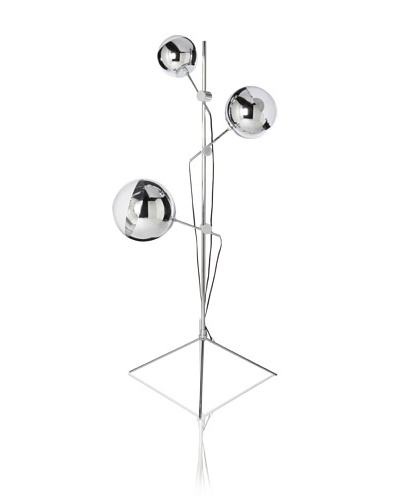 Kirch Lighting Mirror Ball Stand Lamp, Silver