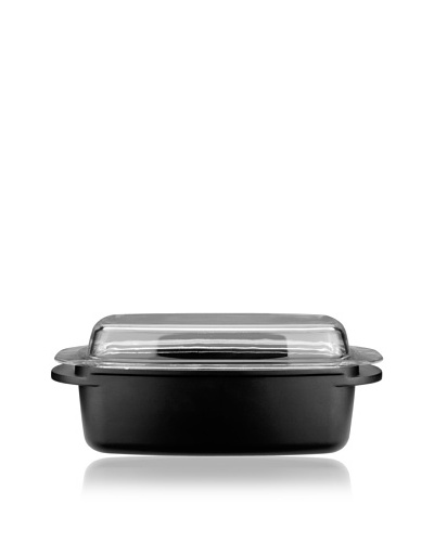 Cook&Co Cast Covered Roasting Pan, Black