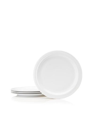 Set Of 4 Hotel Line Salad Plates, White, 8.5''