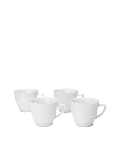 Set Of 4 Hotel Line Coffee/Tea Cups, White, 9-Oz.