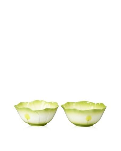 Mustardseed and Moonshine Set of 2 Ramekin Delphinium Lime