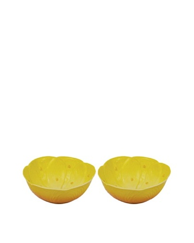 Mustardseed and Moonshine Set of 2 Waterlily Ramekins, Yellow