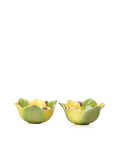 Mustardseed and Moonshine Set of 2 Ramekin Trillium Wood Lily