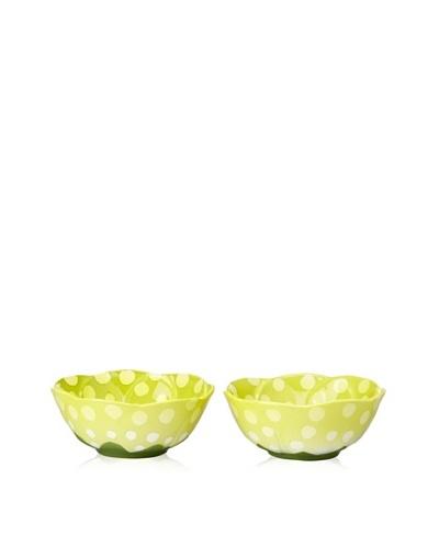 Mustardseed and Moonshine Set of 2 Ramekin Frittilaria Green