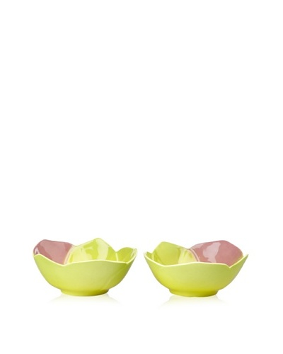 Mustardseed and Moonshine Set of 2 Ramekin Orchid Bellina Green