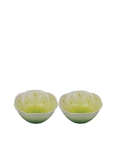 Mustardseed and Moonshine Set of 2 Waterlily Ramekins, Green