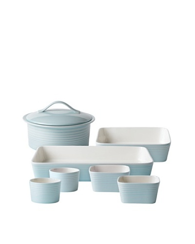 Gordon Ramsay by Royal Doulton Maze Blue 7-Piece Bakeware Set