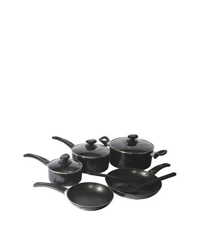 Gordon Ramsay by Royal Doulton Everyday 10-Piece Non-Stick Cookware Set, Black