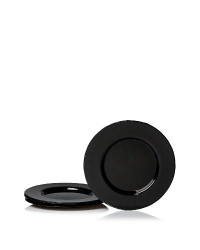 Arda Glassware Set of 4 Odak Charger Plates