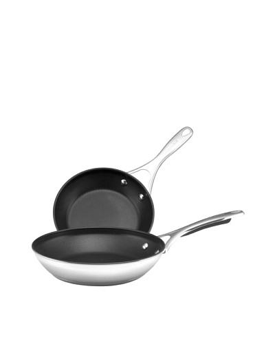 """KitchenAid Gourmet Stainless Steel Nonstick 8"""" & 9.5"""" Skillet Twin Pack"""