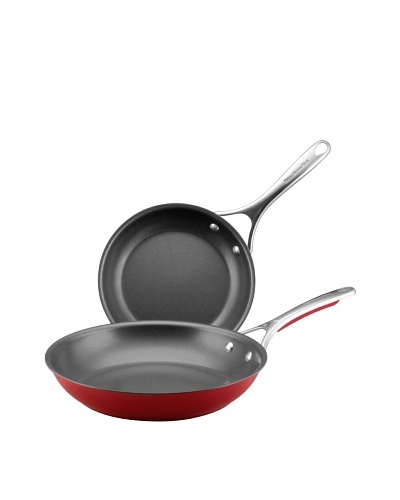 KitchenAid Gourmet Aluminum Nonstick 9 & 11.5 Skillet Twin Pack, Red