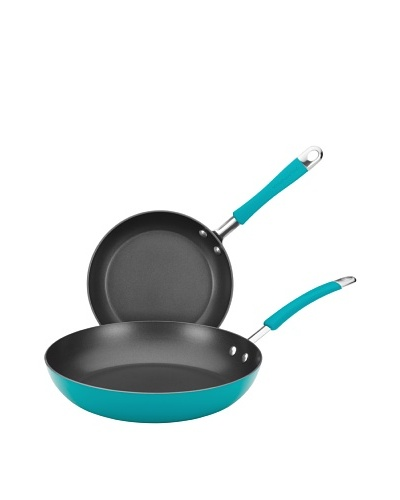 """KitchenAid Aluminum Nonstick 9"""" and 11.5"""" Skillet Twin Pack, Peacock"""