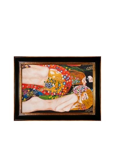 Gustav Klimt Water Serpents II Framed Oil Painting