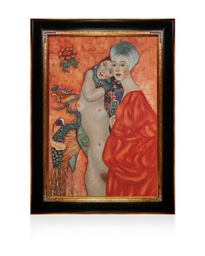 Gustav Klimt Girl Friends Framed Oil Painting