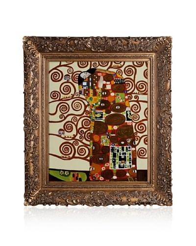 Gustav Klimt Fulfillment (The Embrace) Framed Oil Painting