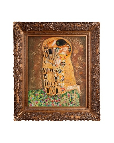Gustav Klimt The Kiss Framed Oil Painting