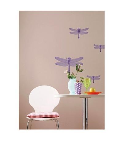 Komar Dragonflies Small Wall Art, Purple