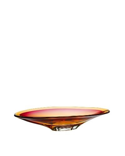 Kosta Boda Vision Dish, Pink/Amber, 10.25