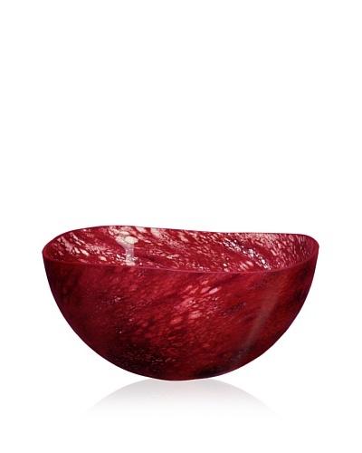 Kosta Boda Dino Bowl Burgundy