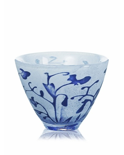 Kosta Boda Floating Flowers Bowl, Blue