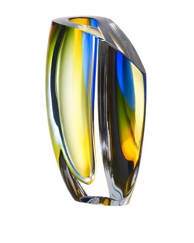 Kosta Boda Mirage Vase [Blue/Amber]