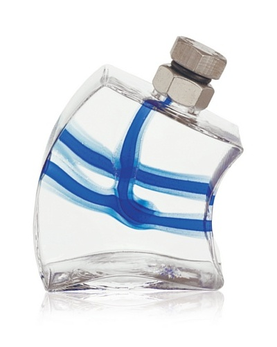 Kosta Boda Macho Decanter, Clear/Blue, Small