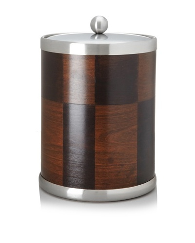 Kraftware American Artisan Ice Bucket, Ebony/Walnut, 5-Qt.