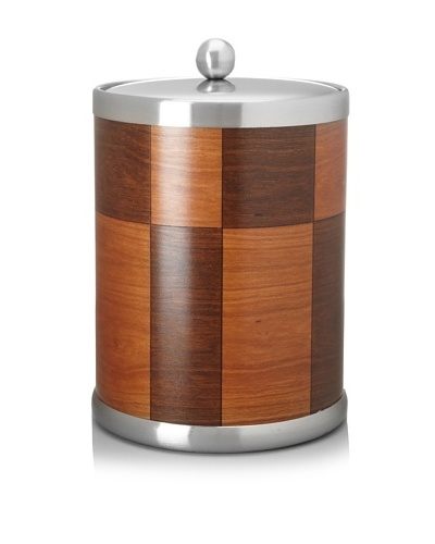Kraftware American Artisan Ice Bucket, Walnut/Rosewood, 5-Qt.