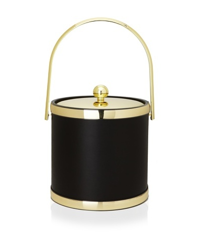 Kraftware Sophisticates 3-Qt. Ice Bucket with Track Handle [Brass]