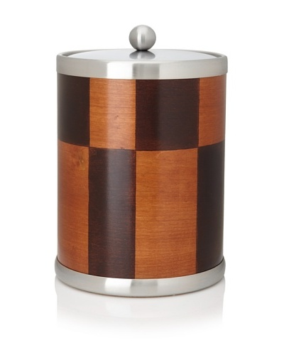 Kraftware American Artisan Ice Bucket, Cherry/Walnut, 5-Qt.
