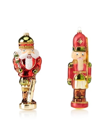 Krebs Glas Lauscha Bavarian Nutcracker Soldier & Bohemian Nutcracker King