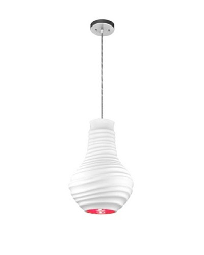 Krush Flutter Pendant, Bisque with Paprika Interior