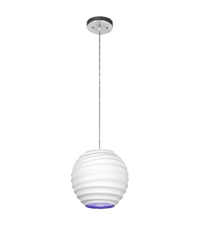 Krush Cloud 9 Pendant, Bisque with Morocco Blue Interior